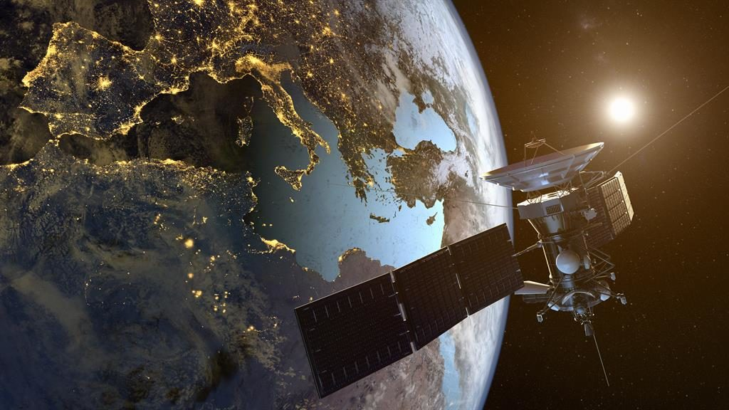 Space race: Starlink's satellites would fire internet messages around the globe at superfast speed PICTURE: GETTY
