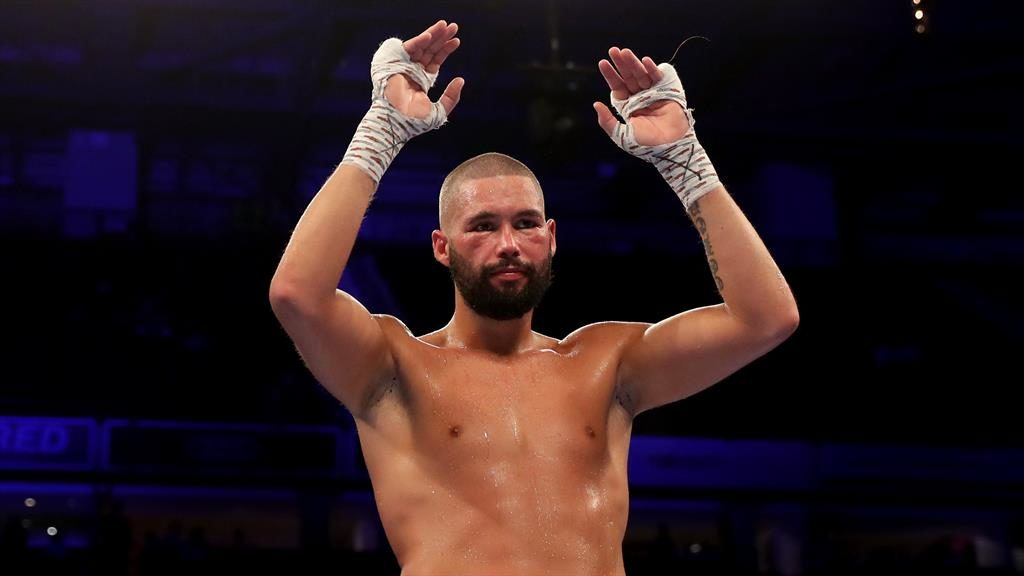 Final bow: Bellew acknowledges the crowd after his knockout (below)