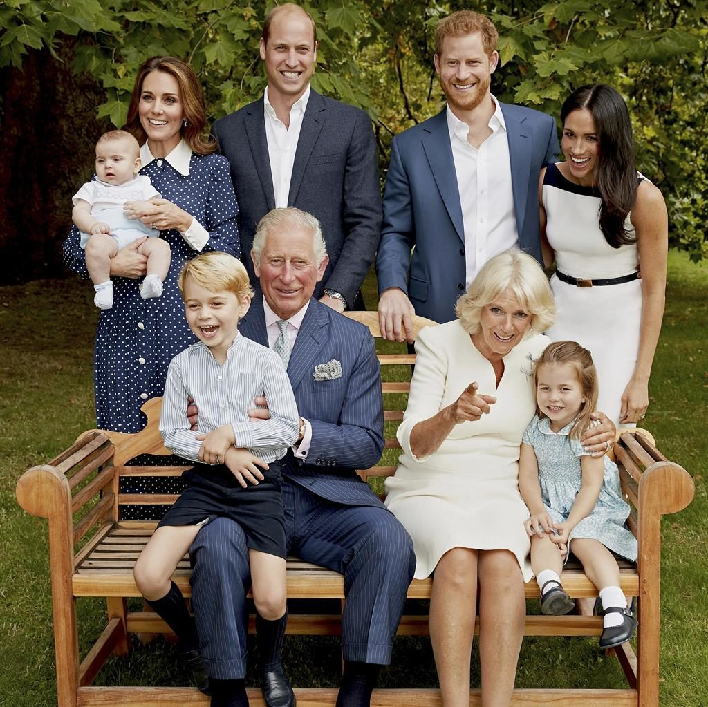 Royal flush: The official photograph for Charles's 70th birthday today PICTURE: CHRIS JACKSON