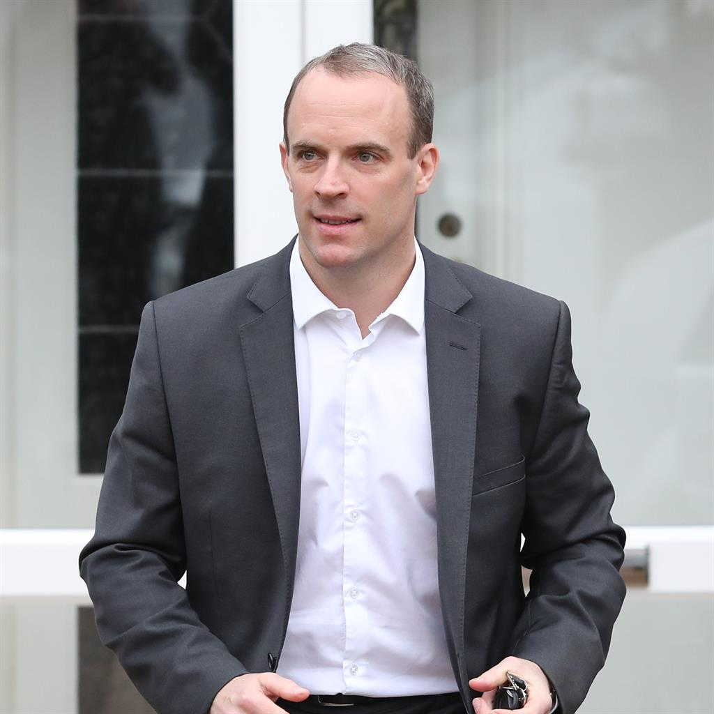 Out: Dominic Raab said he could not back the proposed deal