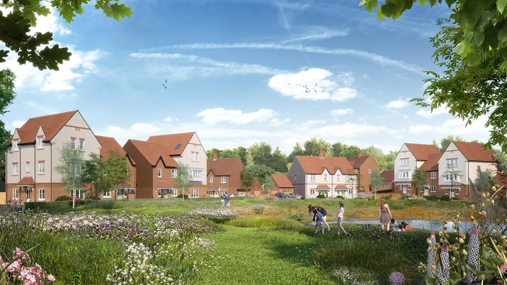 Country houses: This Bracknell scheme includes a landscaped park