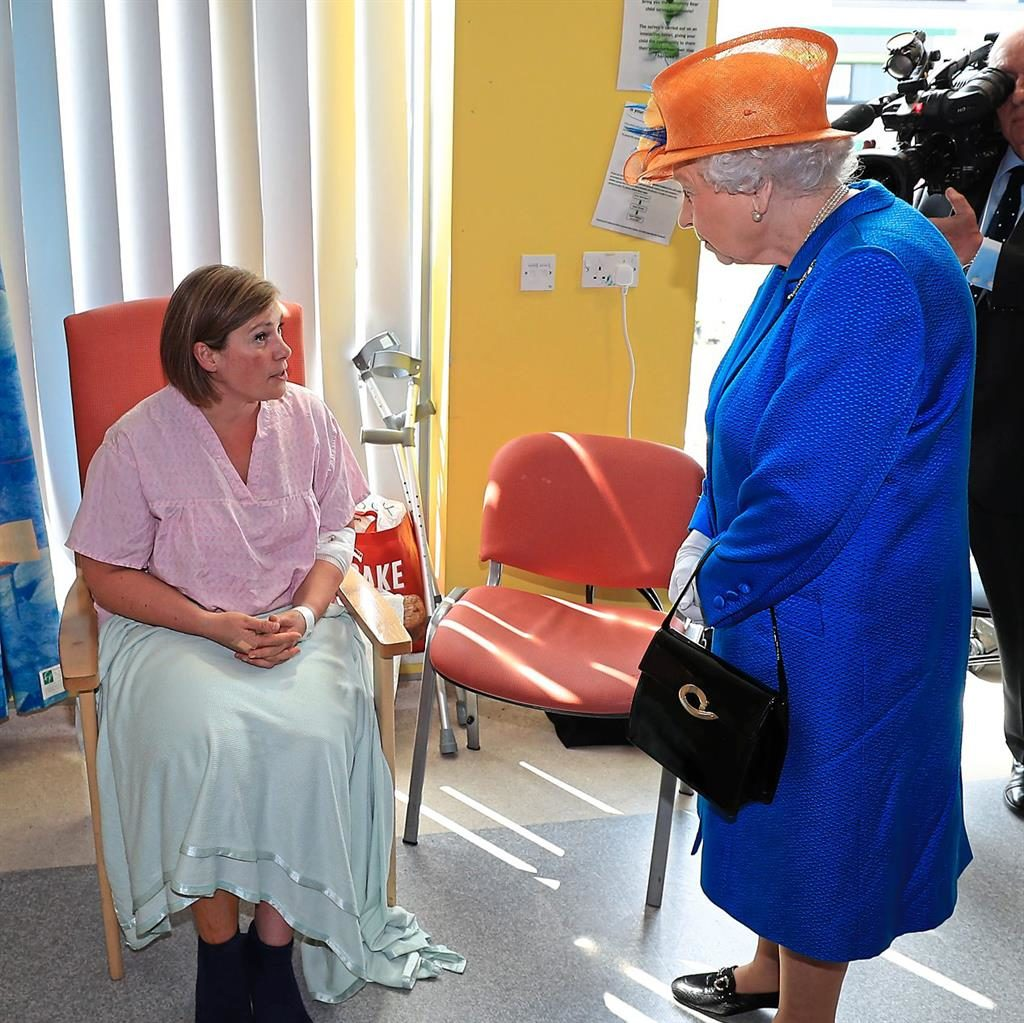 Trauma: Manchester Arena bombing victim Ruth Murrell meets the Queen PICTURES: PA