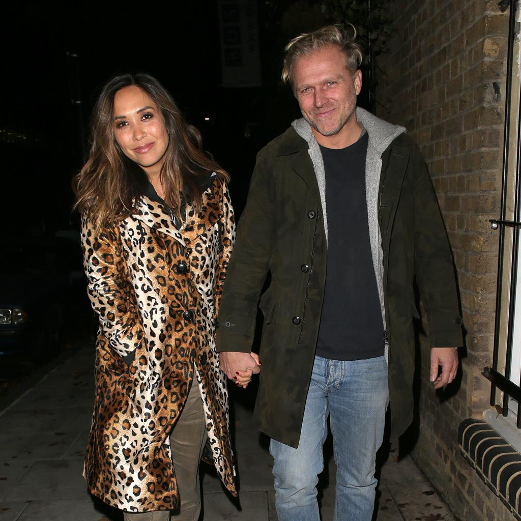 Worn to be wild: Myleene in leopard print on her date night with Simon PICTURE: GC