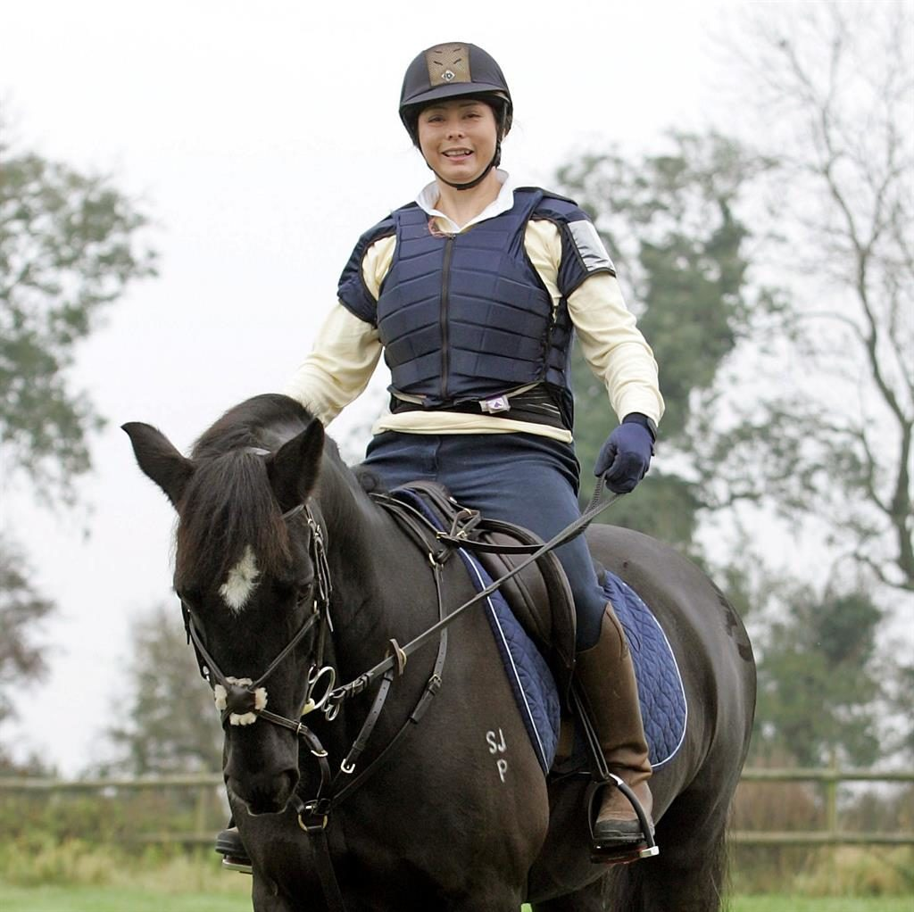 Injuries: Susi Rogers-Hartley had to quit Para show jumping after attack PICTURE: SWNS