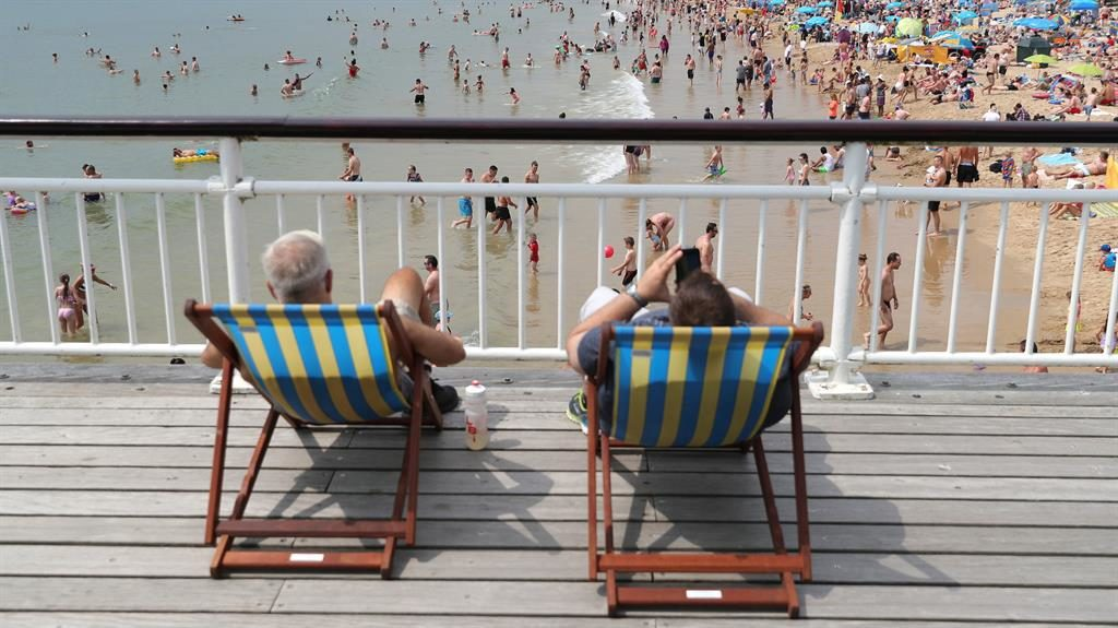 Hotting up: Expect weeks-long heatwaves to become the norm PICTURES: PA
