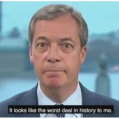 Who, me? Nigel Farage PICTURE: FOX