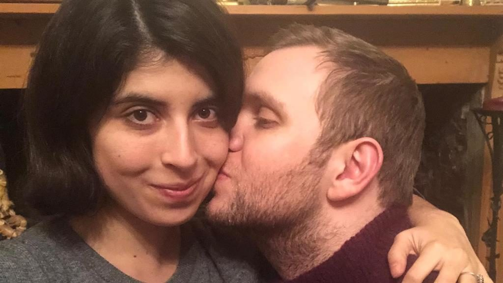 Kiss: Daniela Tejada posted this selfie of her with Matthew Hedges