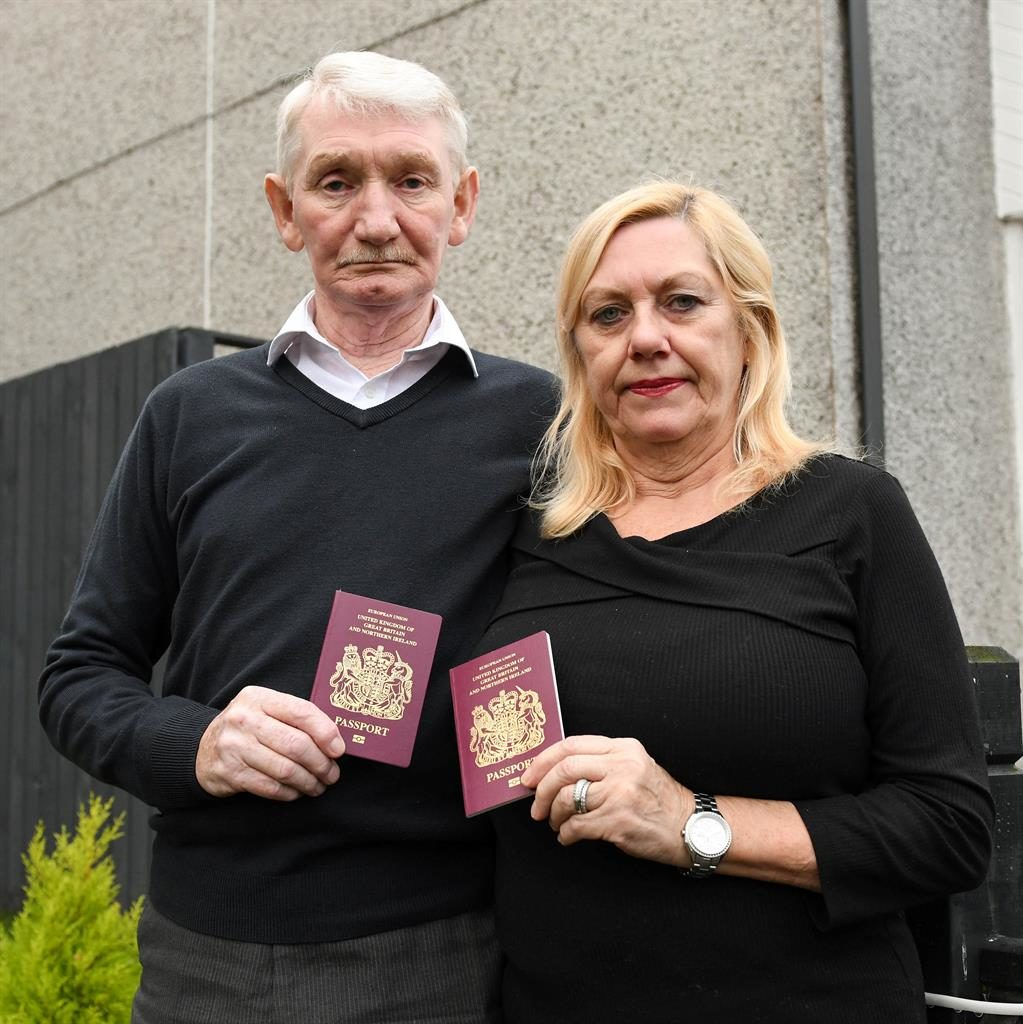 Website woe: John and Marion Stevenson face missing trip after answer to terror query was recorded as 'yes' PICTURE: SWNS