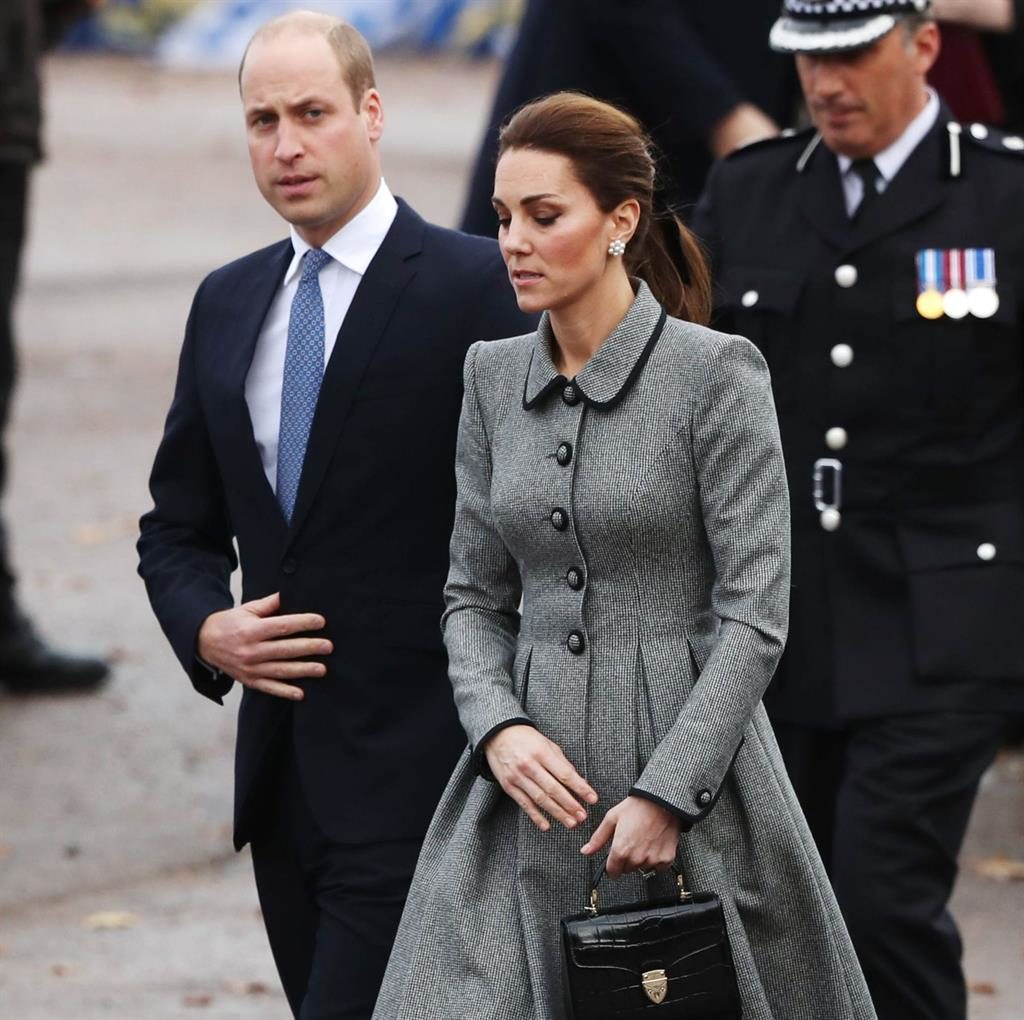 Scene of tragedy: The Duke and Duchess in Leicester yesterday PICTURES: GETTY/PA/REX