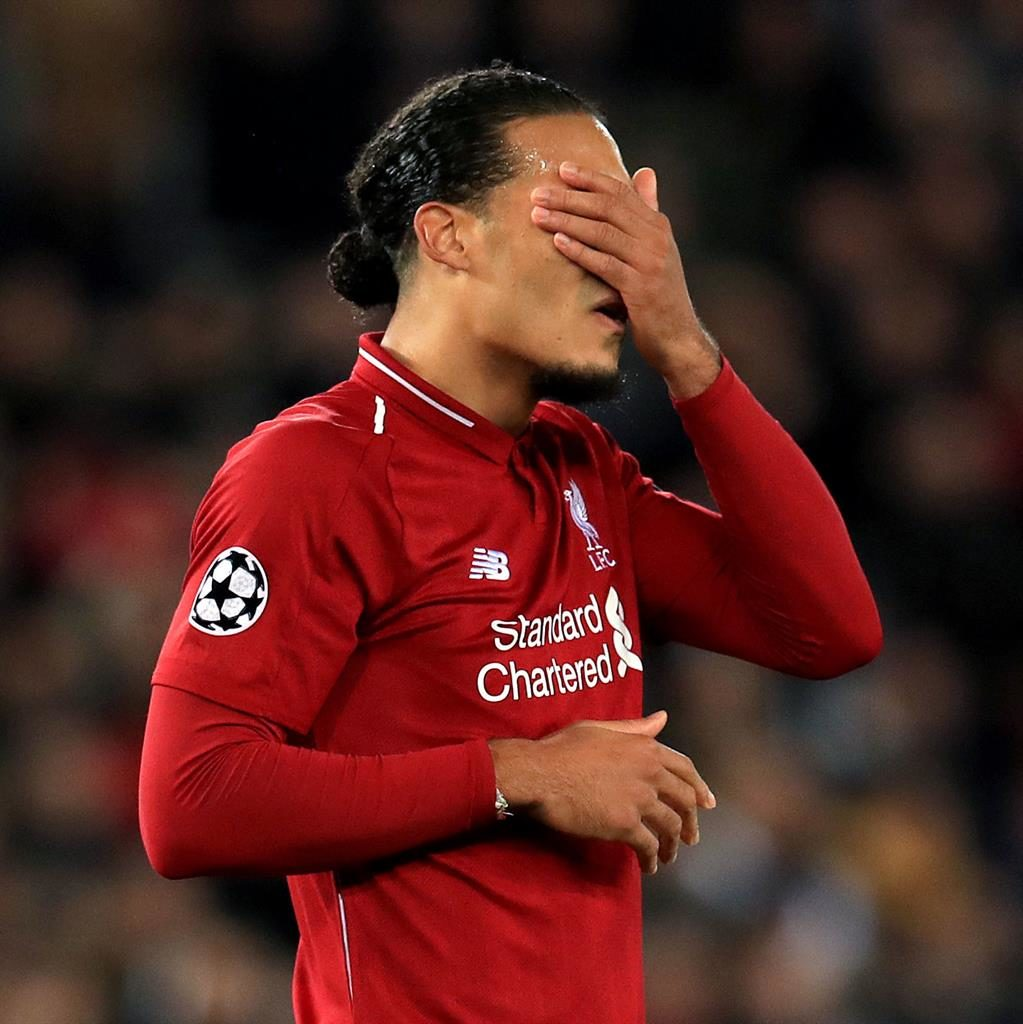 Can't look: Reds defender Virgil Van Dijk after Liverpool fall behind while Milner gave the Reds hope from the penalty spot (below) PICTURES: PA/GETTY