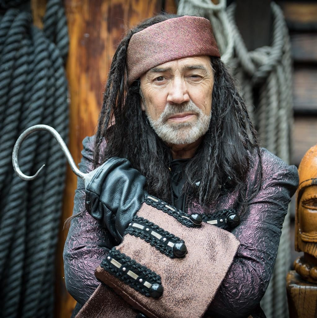 Hooked: Robert always thought he'd 'grow out of' acting', but the work keeps coming; and (below) with Peter Pan castmates PHOTO: CRAIG SUGDEN