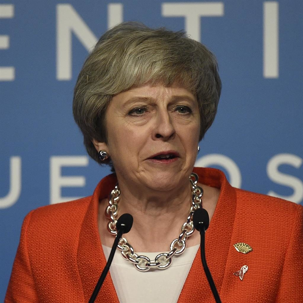 Under pressure: Theresa May PICTURE: REX