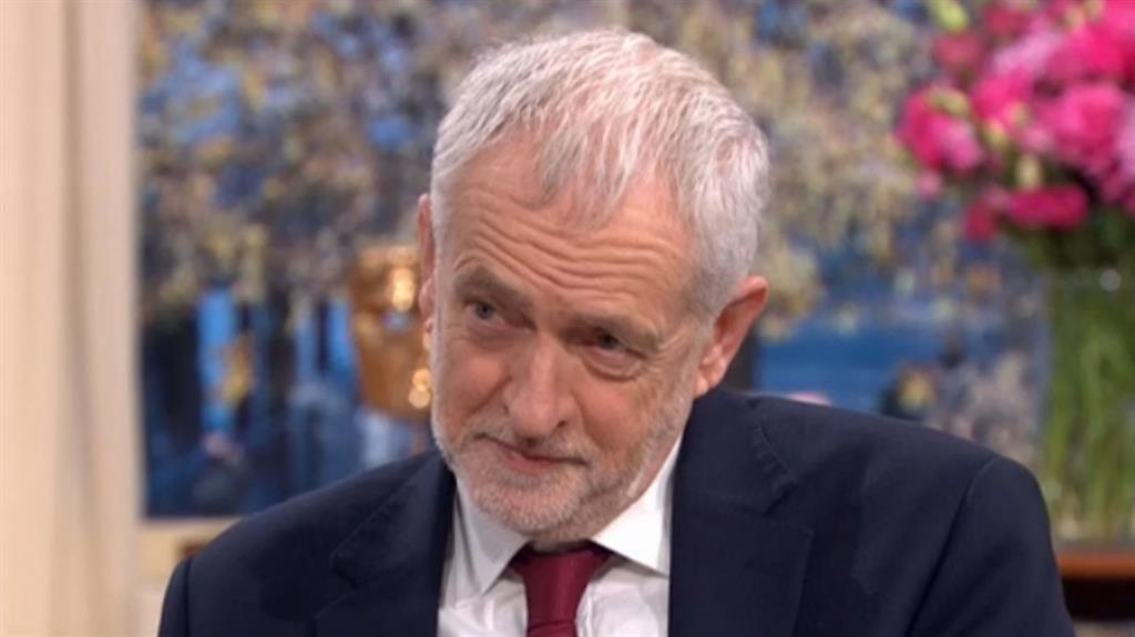 Wrangling: Jeremy Corbyn PICTURE: ITV/PA