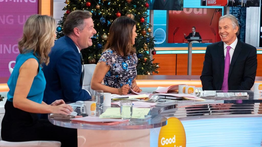 'Tough job': Tony Blair on Good Morning Britain PICTURE: ITV/REX