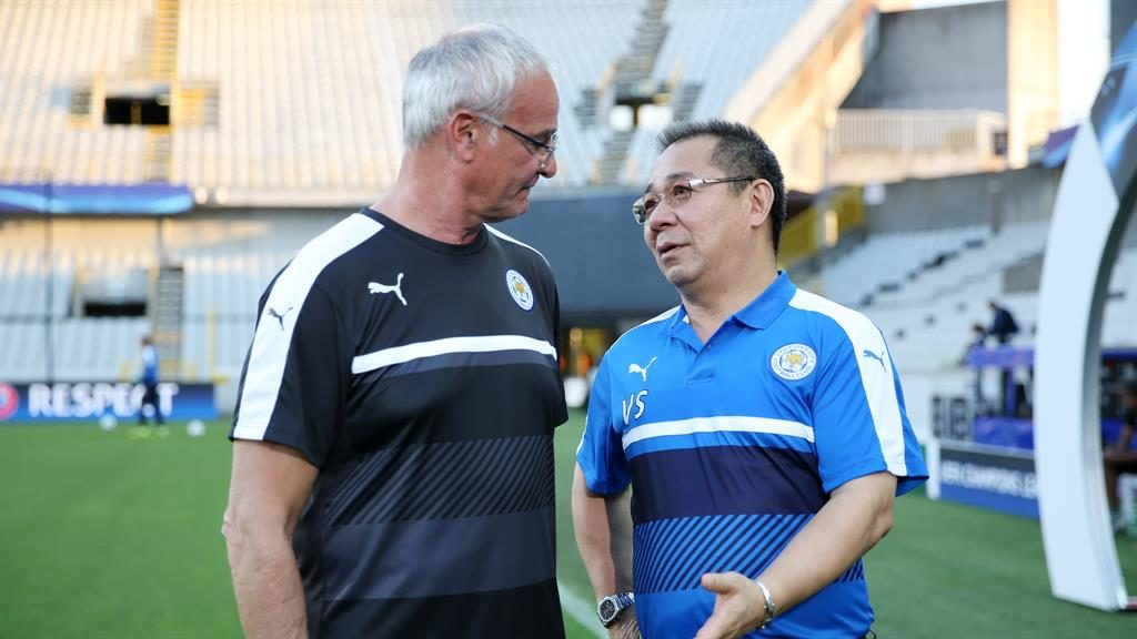 Dream team: Ranieri (left) and Srivaddhanaprabha won the Premier League title with Leicester PICTURE: GETTY
