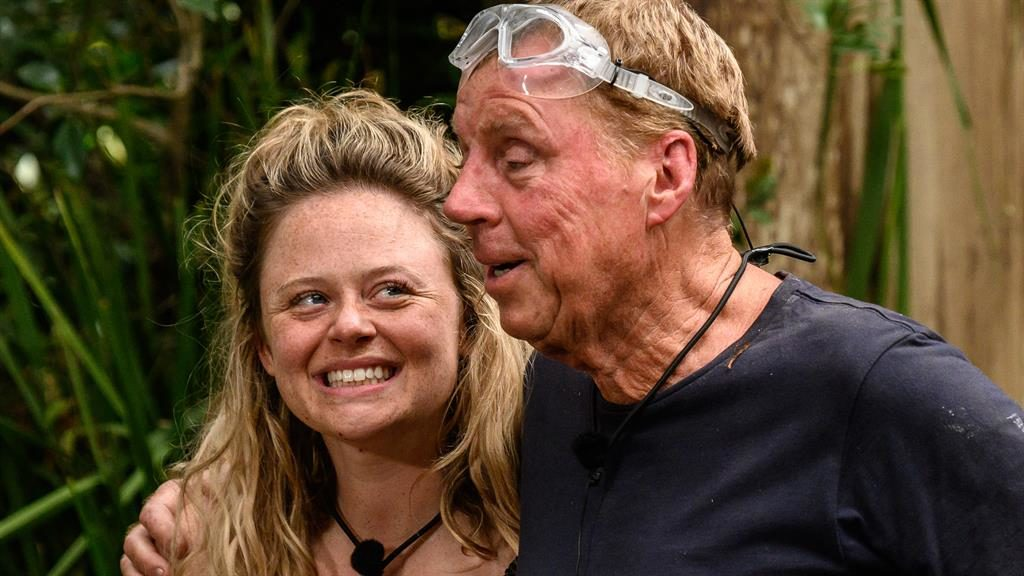Atack-ling it together: Emily and Harry during last night's Bushtucker Trial PICTURE: REX