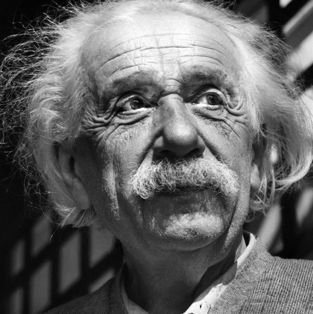 Genius: Einstein in 1954, the year he wrote the letter PICTURE: AP