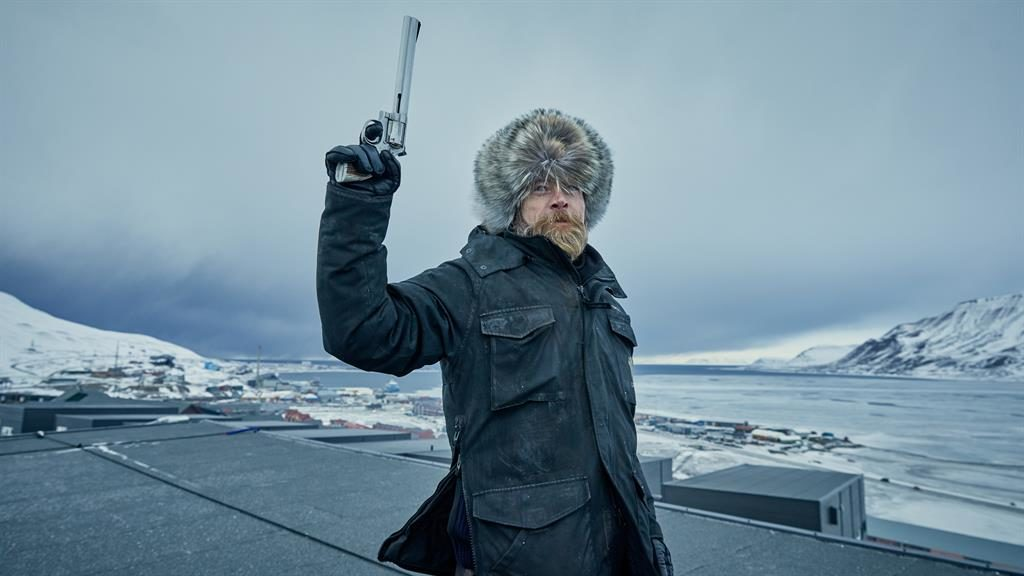 I shot, the sheriff: Richard Dormer rocking his furry hat as the gun-toting Dan PICTURE: SKY UK