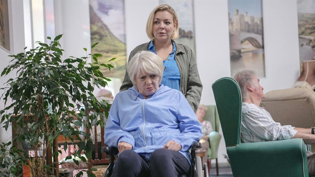 Convincing: Jenny (Sheridan Smith) struggles to cope with dementia-hit mum Mary (Alison Steadman) in the harrowing drama PICTURE: BBC/LA PRODUCTIONS