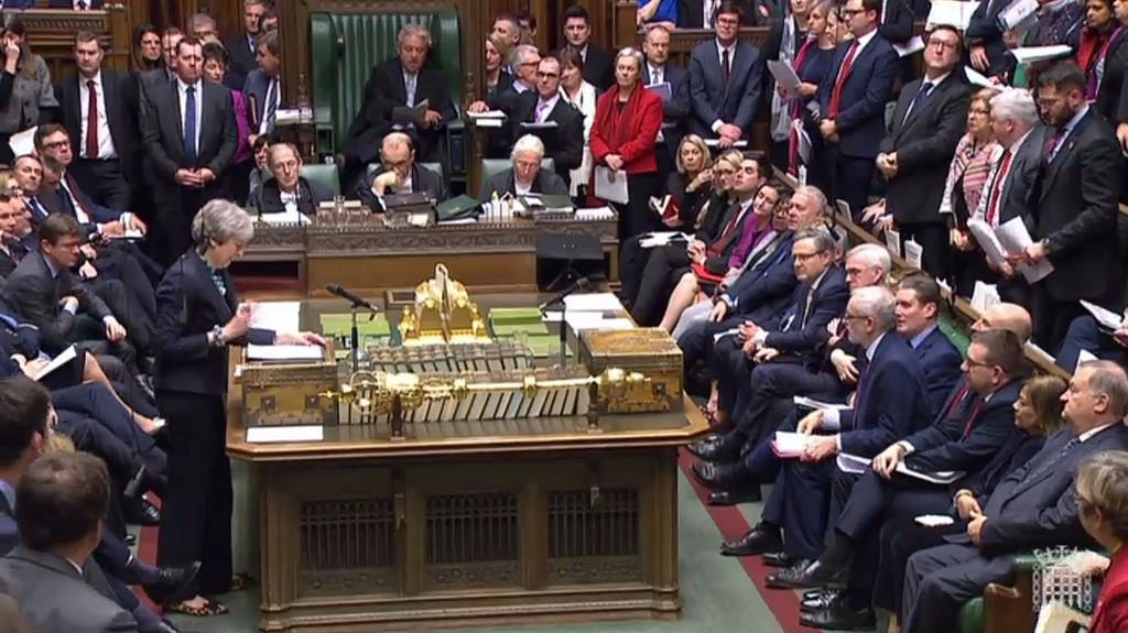 I still believe: Mrs May tells MPs she hopes to win them round by obtaining assurances over the backstop PICTURE: GETTY