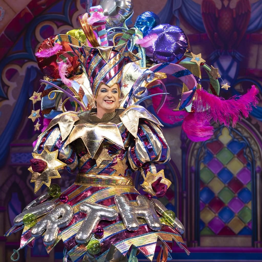 One for the dress circle: Julian Clary in an extravagant costume
