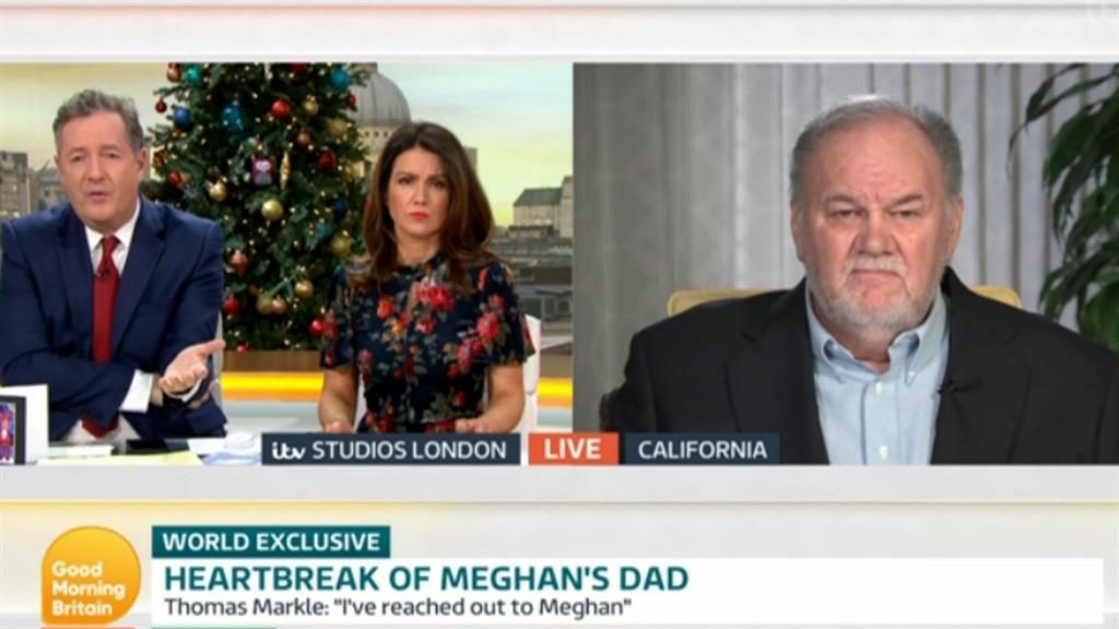 I won't stay silent': Morgan and Reid interview Mr Markle PICTURES: ITV/REX/PA