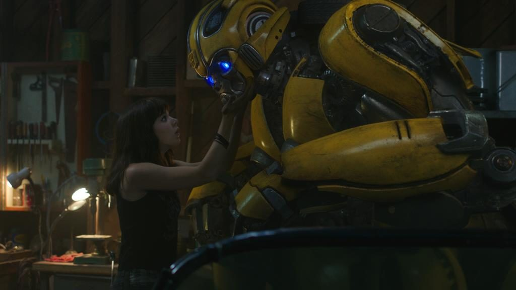 Phone home: The relationship between Hailee Steinfeld's Charlie and the Autobot recalls Steven Spielberg's classic