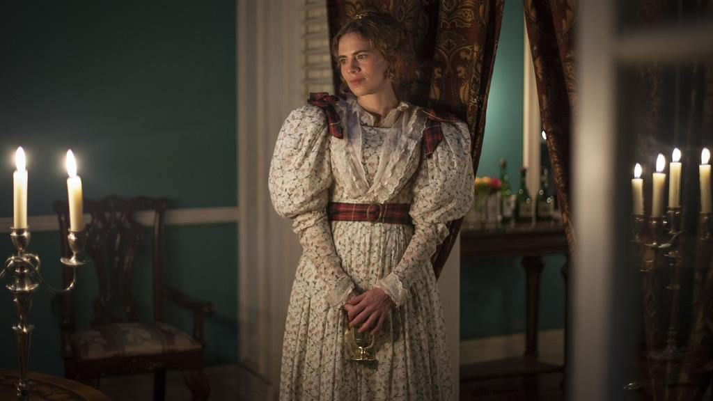 Desperately miscast: Hayley Atwell plays Caroline, the bored and entitled sister of a plantation owner PICTURE: BBC