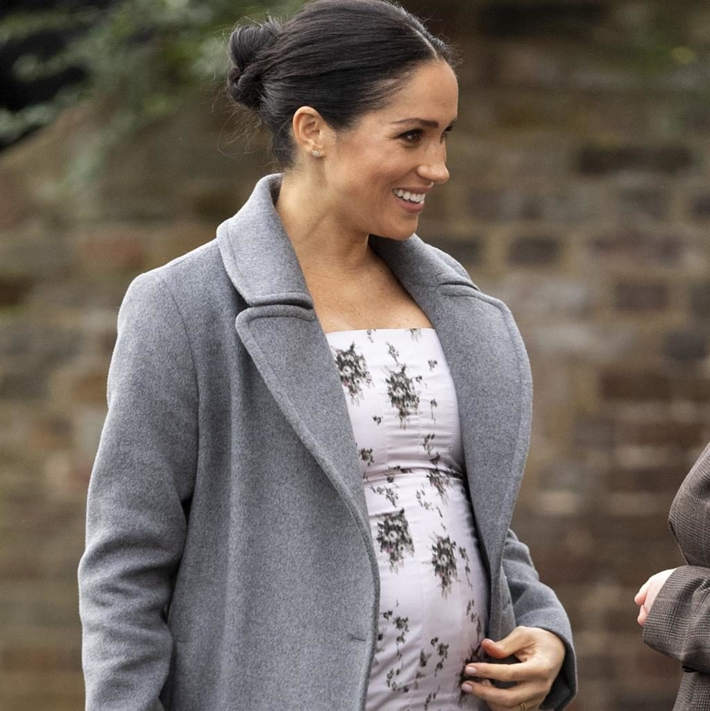 Bump: Meghan was 'feeling very pregnant' PICTURES: GETTY/PA