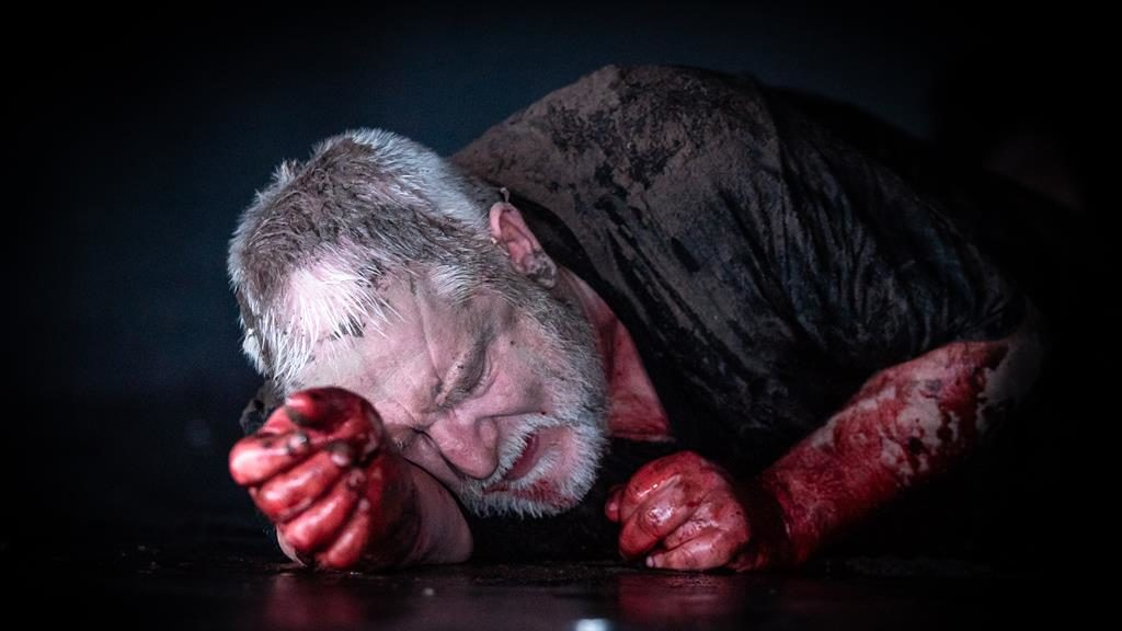Hard cell: Simon Russell Beale superbly conveys the king's humiliation PICTURE: MARC BRENNER