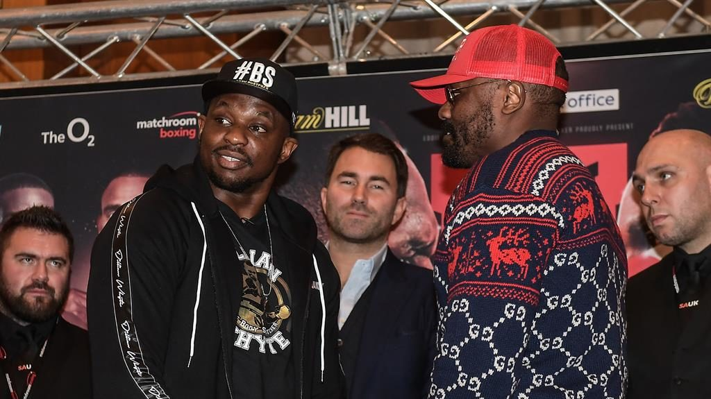 Dereck Chisora and Dillian Whyte weigh-in ends in chaos
