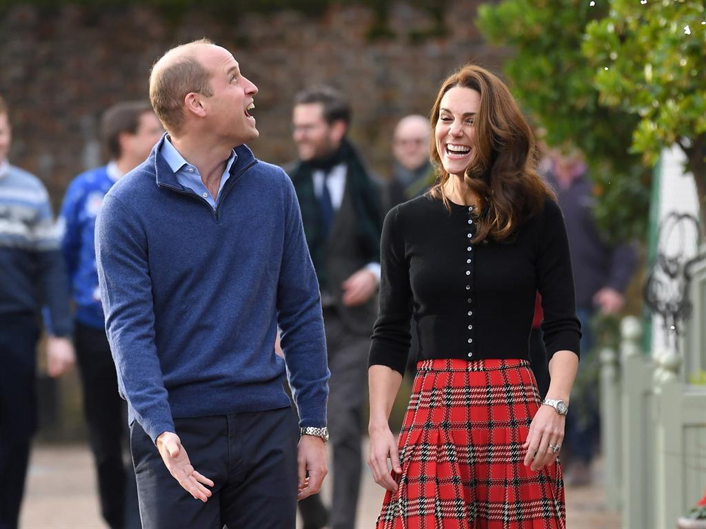One's winter wonderland Royal couple in high spirits