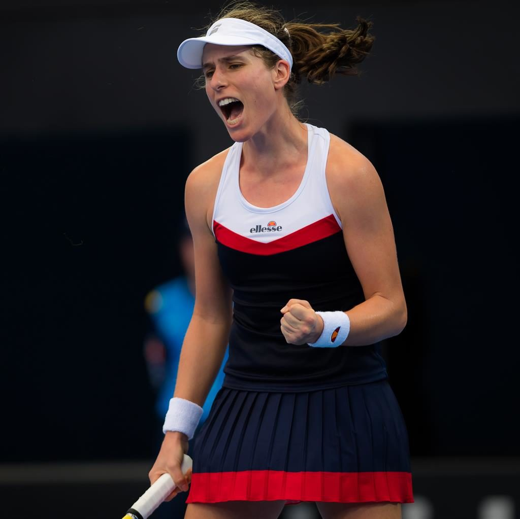 Johanna Konta causes surprise by defeating Sloane Stephens in Brisbane