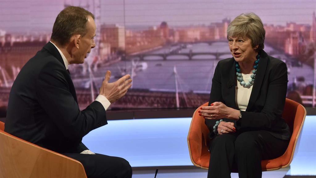'Uncharted territory': Mrs May refuses to tell Andrew Marr where defeat might lead  PICTURE: PA