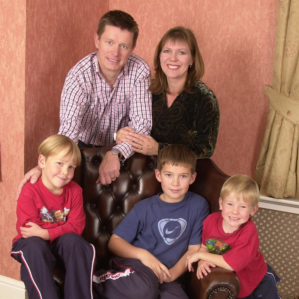 Deceived: Richard Mason in 2004 with then-wife Kate and boys he raised as his own PICTURES: DAILY MAIL/IAN McILGORM