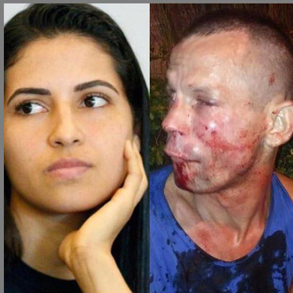 Ouch: UFC fighter Polyana Viana and the badly beaten would-be thief