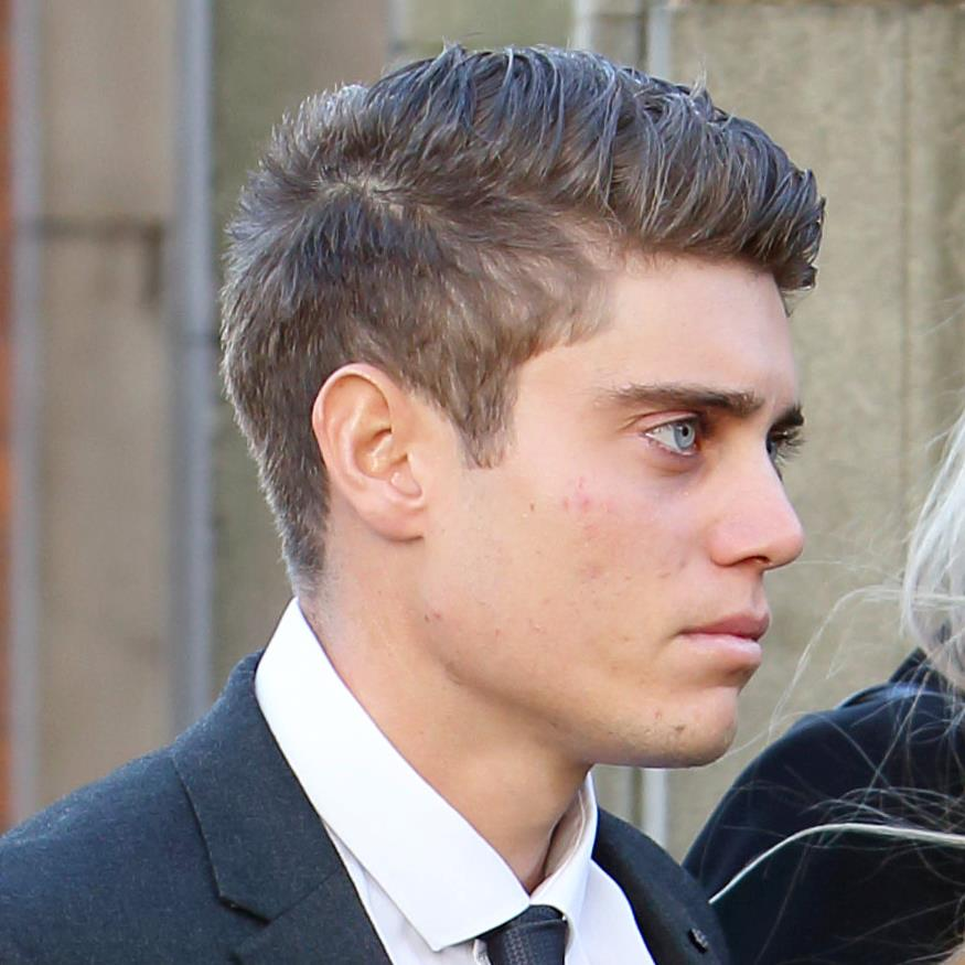 Accused: Cricketer Alex Hepburn, 23, arrives at the court in Worcester PICTURES: SWNS