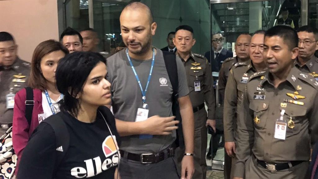 Hopeful: Ms al-Qunun in Bangkok PICTURE: AP
