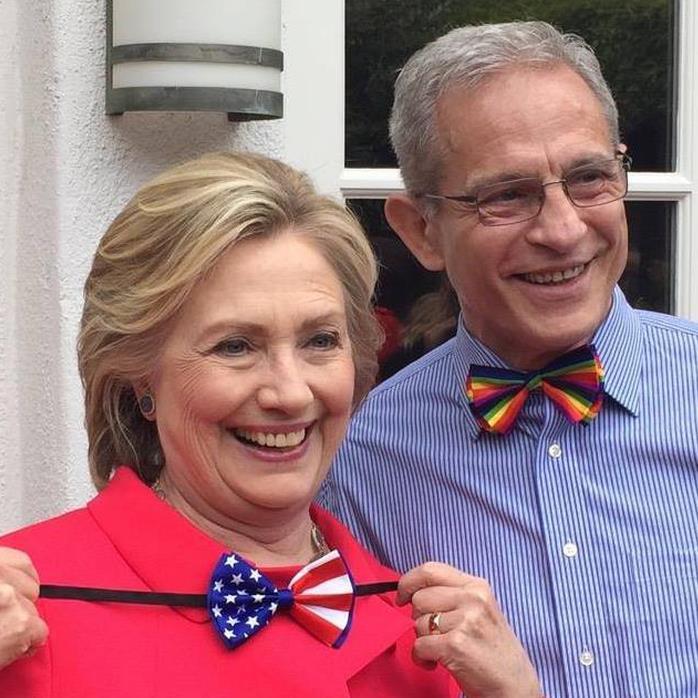 Political ties: Mr Buck with Hillary Clinton