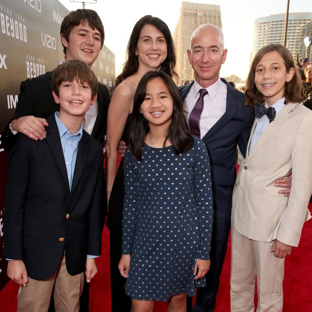 Family: The couple with their children at a film premiere in 2016 PICTURE: GETTY