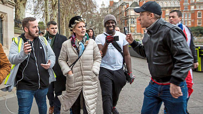 Abuse: MP Anna Soubry was heckled by men near parliament PICTURE: LNP