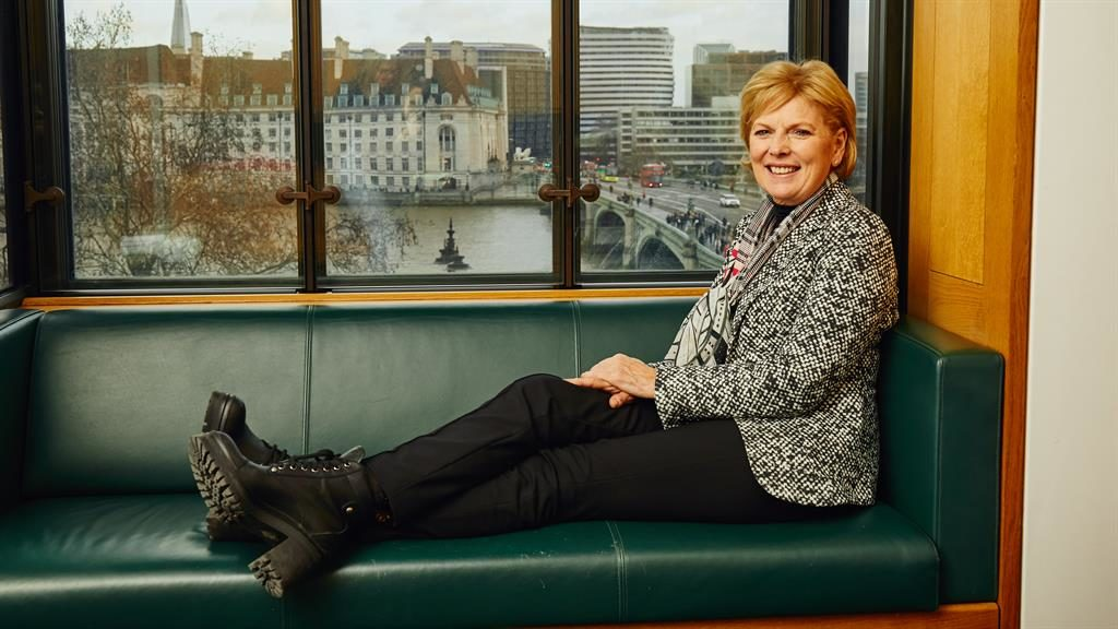 Taking steps: Anna Soubry says she wears boots to run in and does not stand near the edge of the Tube platform because of threats
