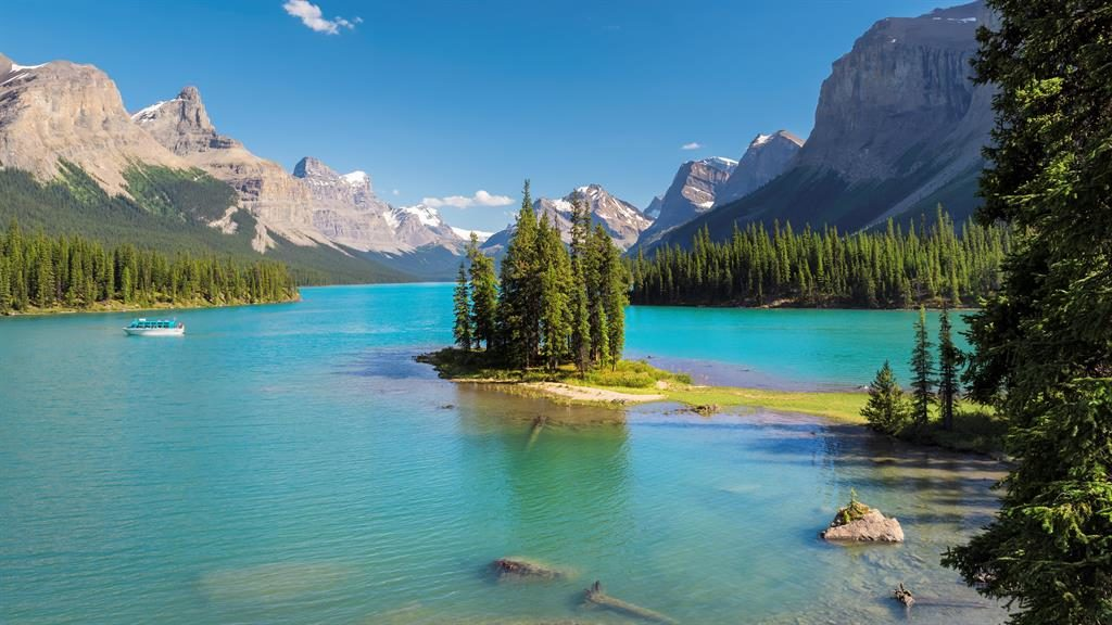 Jaw-dropping beauty: Antonia (below) took a road trip through Jasper in the Canadian Rockies PICTURE: ALAMY