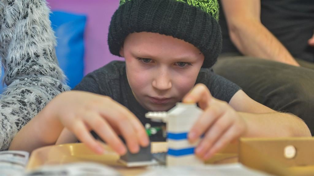 New kid on the block: William, who is seven, builds models of the machines used in his treatment PICTURES: SWNS