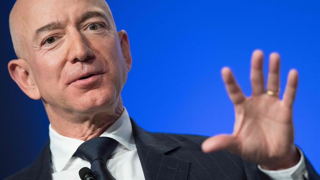 Wealth: Oxfam says one per cent of Jeff Bezos' wealth could fund Ethiopia's health budget PICTURE: GETTY