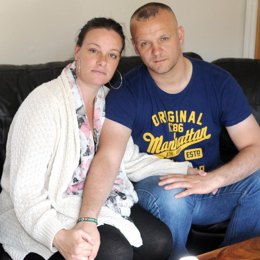 Rejected: NHS refused to fund Sarah and Mark Parsons' IVF treatment because he had a son in a previous relationship PIC: SWNS