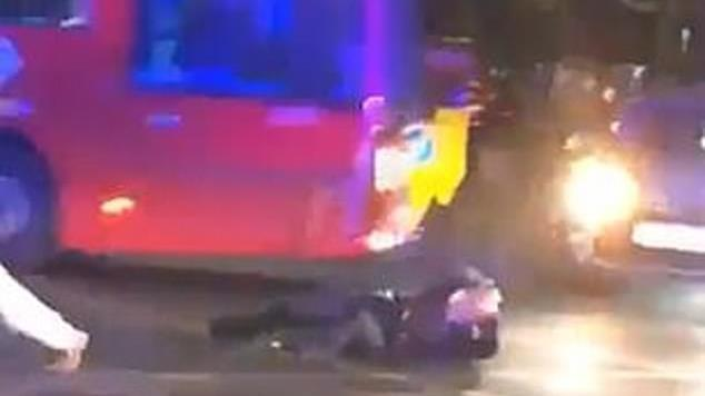 Near miss: Chilling footage of attack on PC Lorraine McGinty went viral