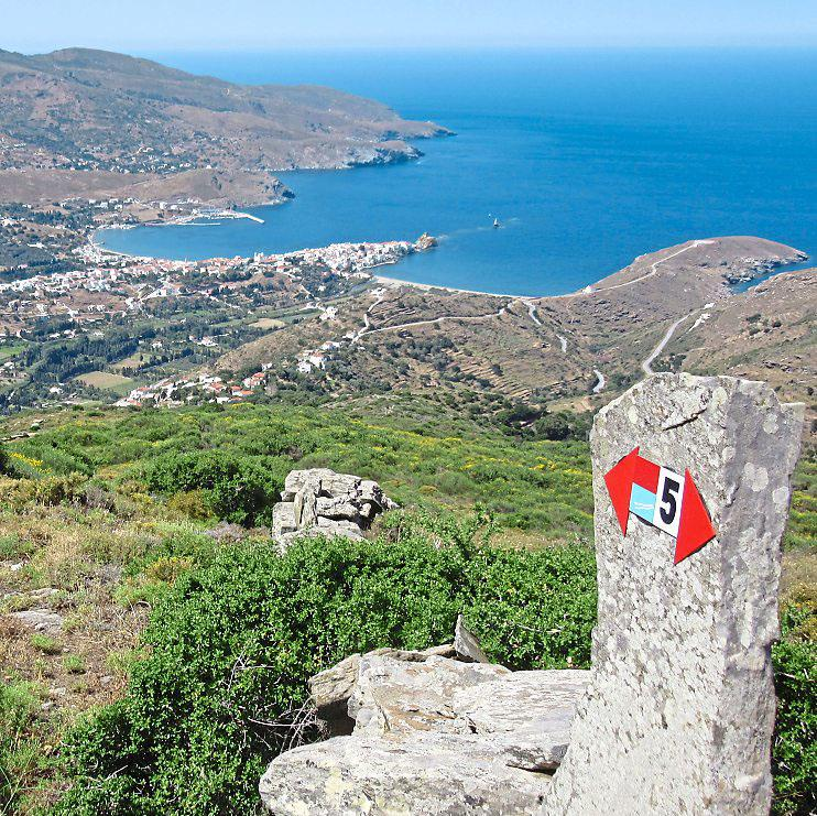 Bay watching: Andros is a small island so the route offers regular views of the sea