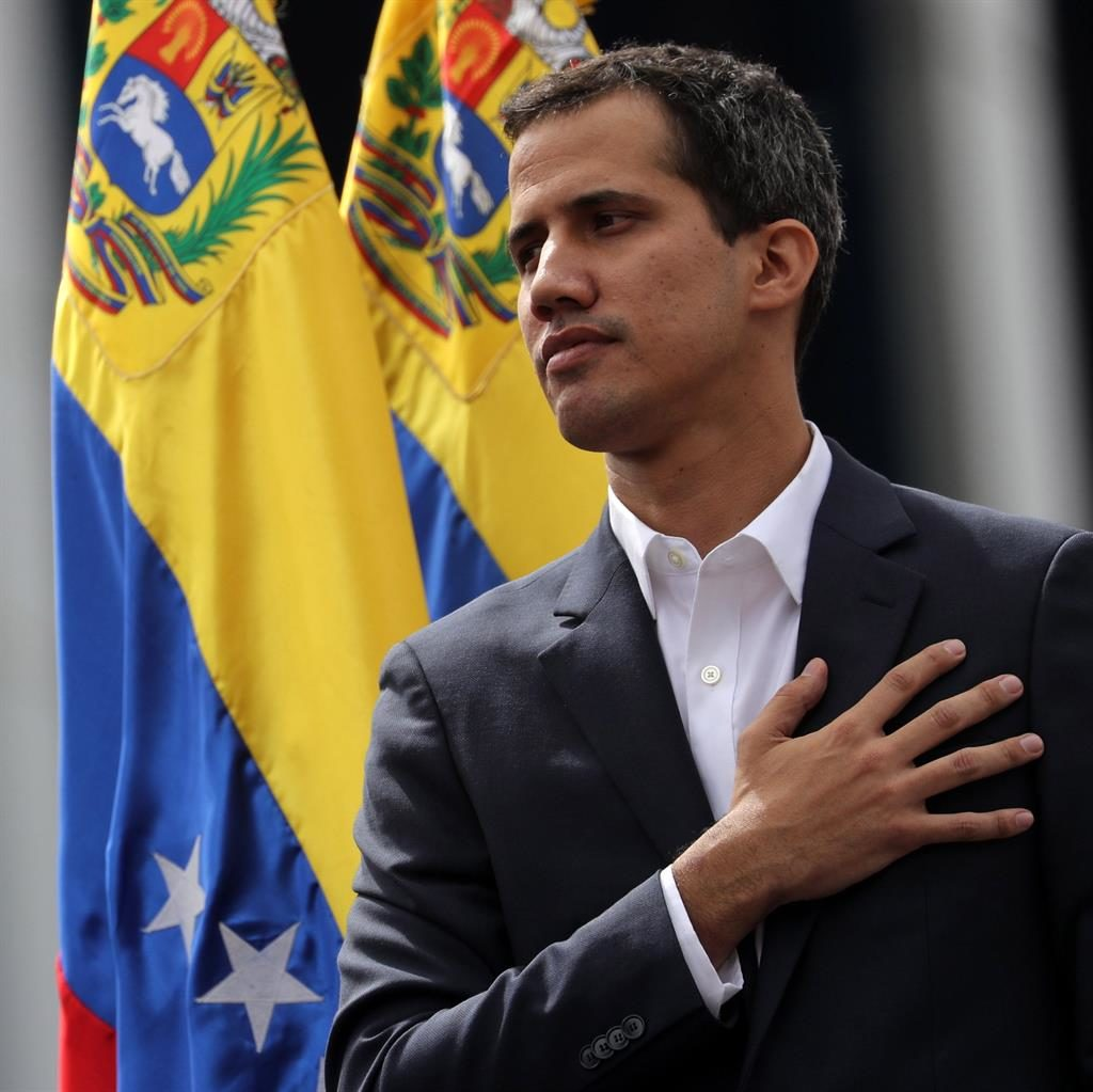 'Right person': Juan Guaidó has declared himself interim president PIC: EPA