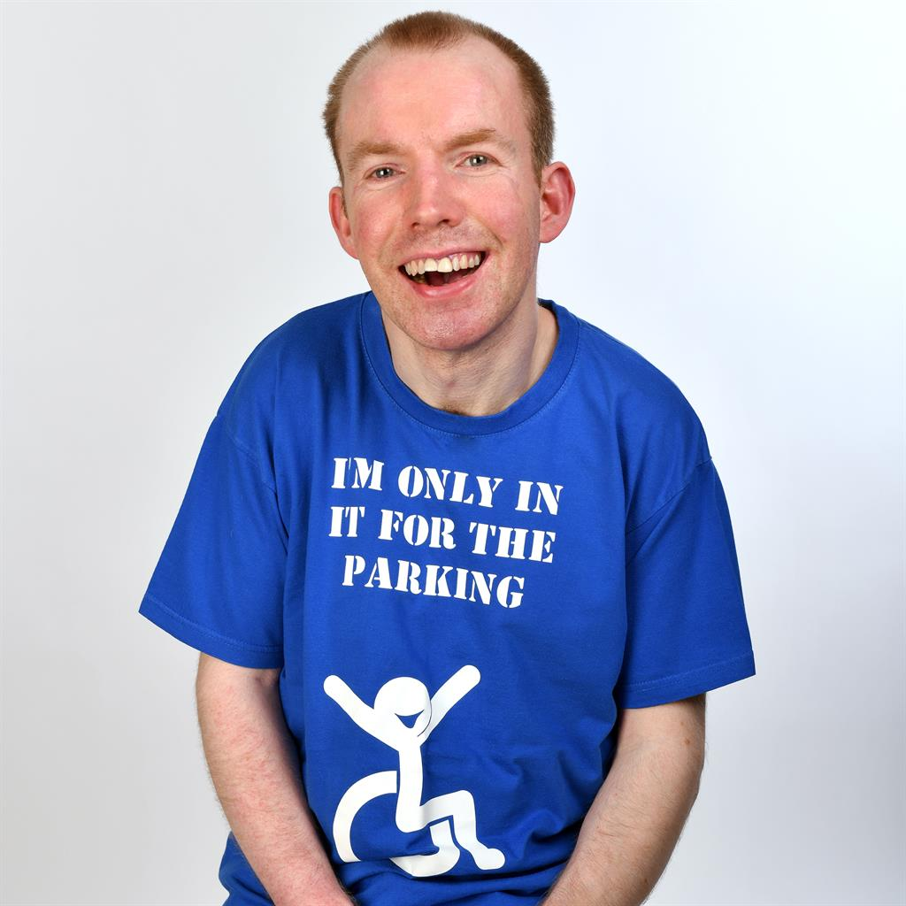 Getting vocal: Lee Ridley has found fame and a bigger audience since winning BGT as Lost Voice Guy, below PIC: STEVE ULLATHORNE